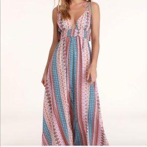 Lulus Maxin Relaxin Maxi Dress Medium